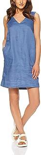 Jag Women's Linen V Neck Shift Dress
