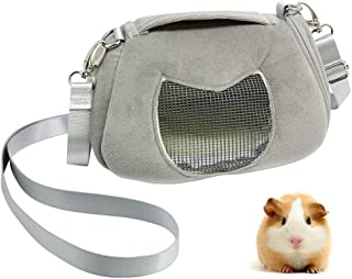ASOCEA Portable Pet Carrier Outgoing Handbag with Adjustable Single Shoulder Strap Pouch for Sugar Glider Hamster Squirrel Small Animals 7.08x4.72x3.93 Inch