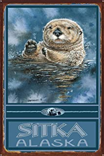 STR Sitka Alaska Rustic Metal Art Print by Dave Bartholet (24