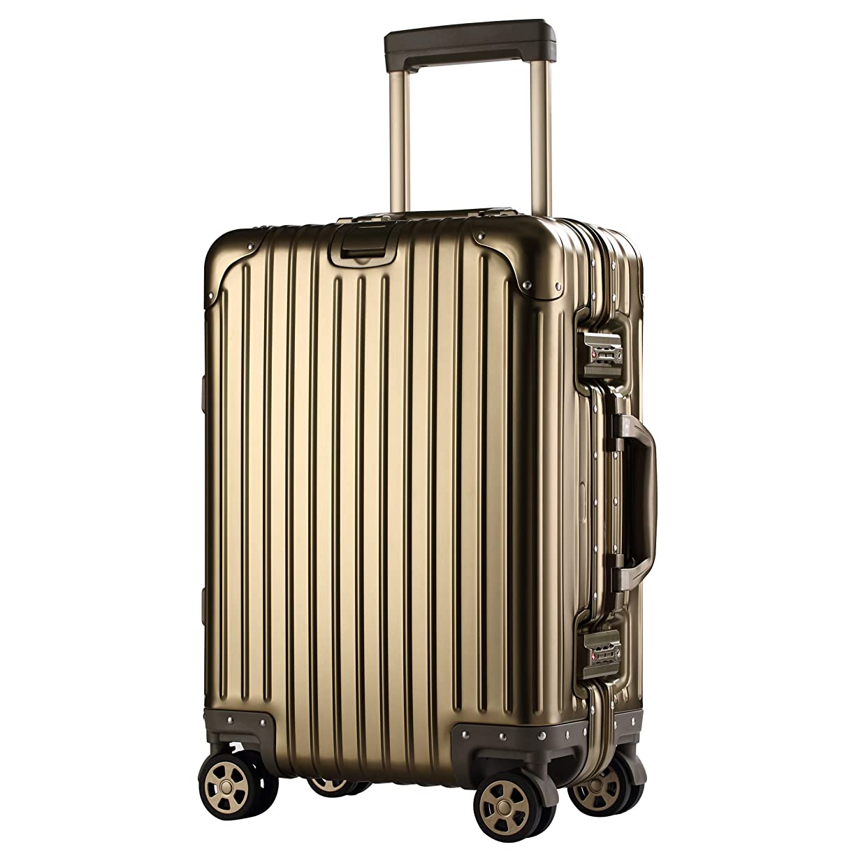 スイサイトライン家主【XDJ Life】 スーツケース アルミマグネシウム合金 キャリーバッグ ダブルキャスター?静音 キャリーケース TSAロック搭載 フレームタイプ ドイツ製カバー付き 軽量 機内持込