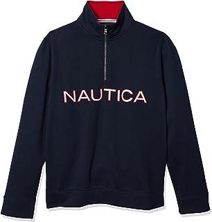 NAUTICA Men's Chest Logo 1/4 Zip Fleece Sweatshirt
