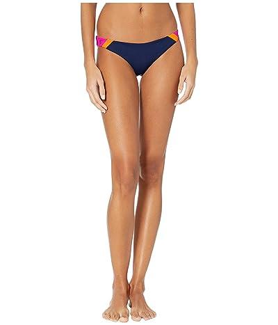 Maaji Caribe Rocks Reversible Signature Coverage Bikini Bottoms (Ink Blue Rib) Women