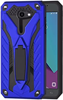 Ownest Compatible Samsung Galaxy J3 Emerge/J3 Eclipse/J3 Mission/J3 Prime/Express Prime 2/Sol 2 Case, Dual Layer 2 in 1 with Protection and Kickstand Case for Galaxy J3 2017,Not fit J3 2018-Blue