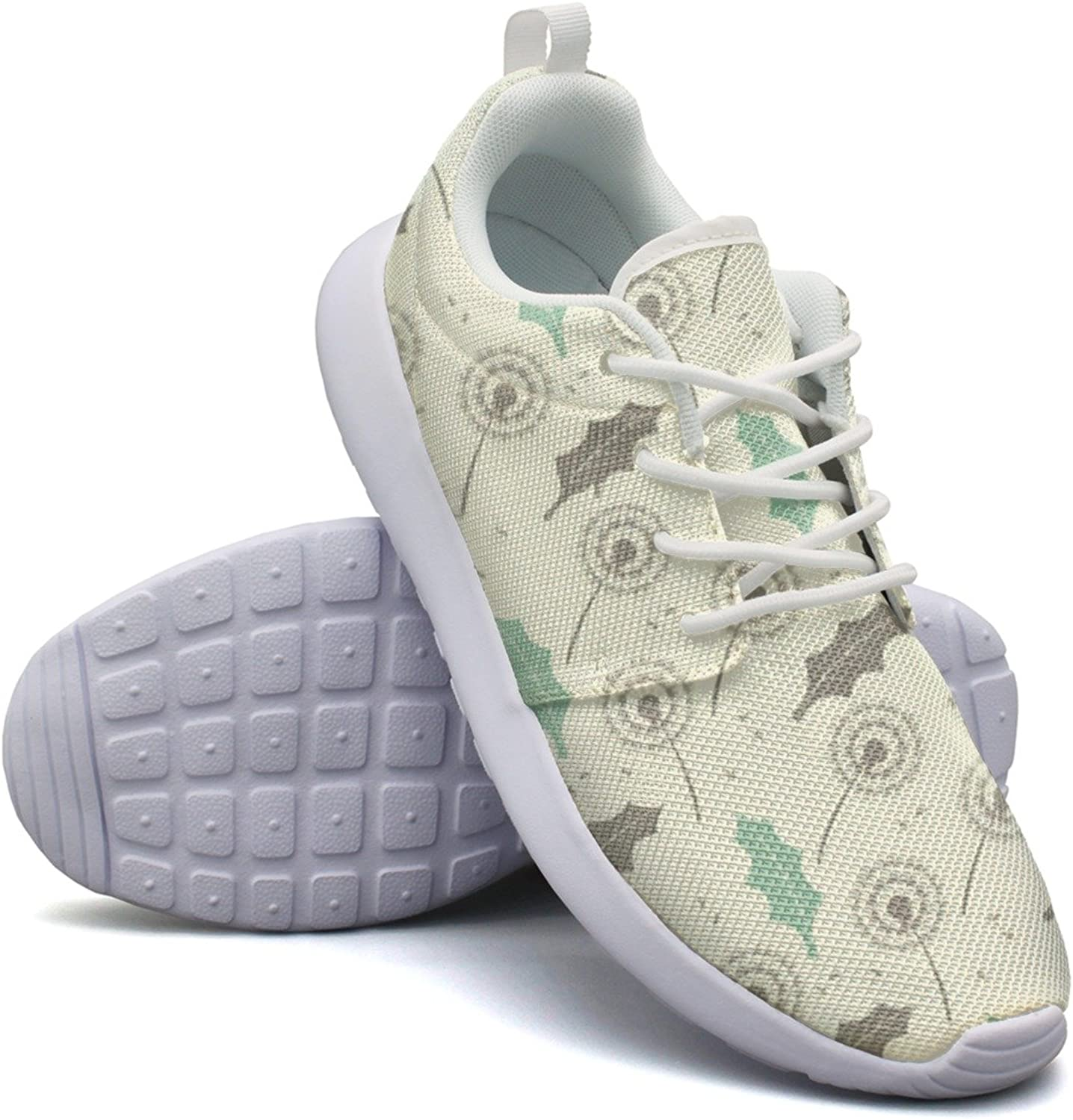 Dandelion Leafs And Seeds Woman's Neutral Running shoes Navy Mini