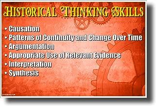 Historical Thinking Skills - NEW Classroom Social Studies POSTER