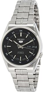 Seiko Men's Black Dial Stainless Steel Band Watch