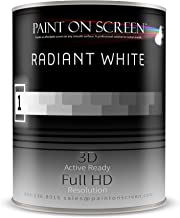 Paint On Screen Projection Screen Paint (Radiant Whte - Gallon)