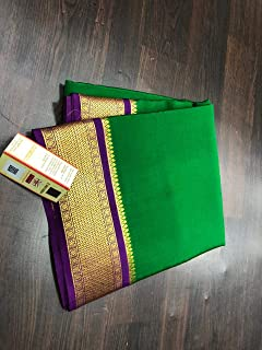 Fashion Vibes KSIC Grade Quality 100gsm Pure Mysore Crepe Silk Saree
