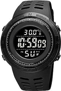 Clastyle Relojes Digital Deportivo para Hombres Actualizado Relojes de Pulsera Termómetro Multifunción Relojes Cuenta Atrá...