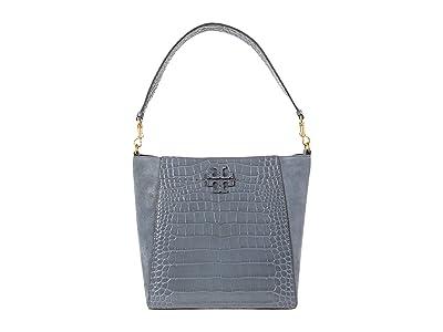 Tory Burch McGraw Embossed Hobo (Bluestone) Handbags