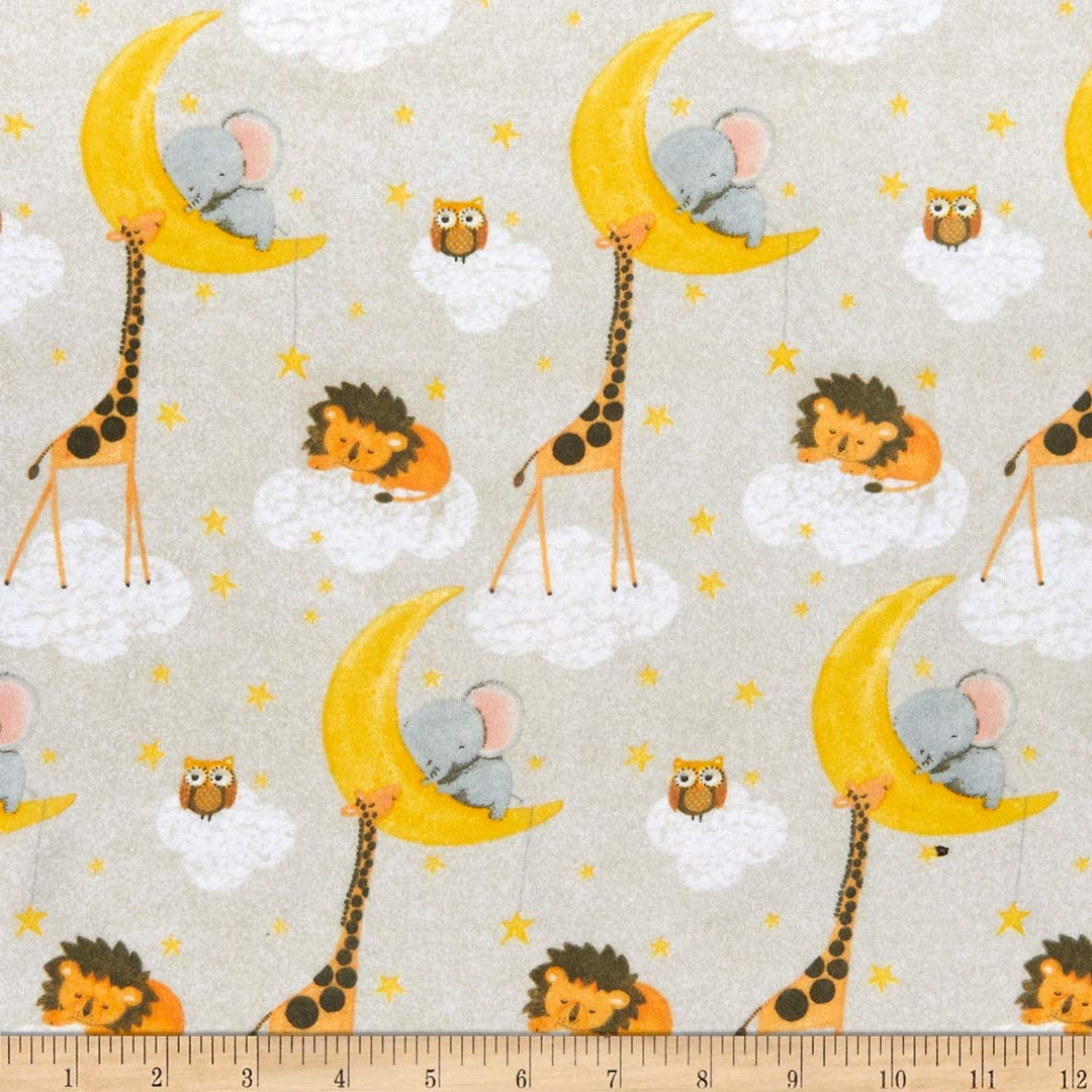 Large discharge sale Comfy R Flannel Print Jungle free shipping Animal by Fabric Y Celestial the