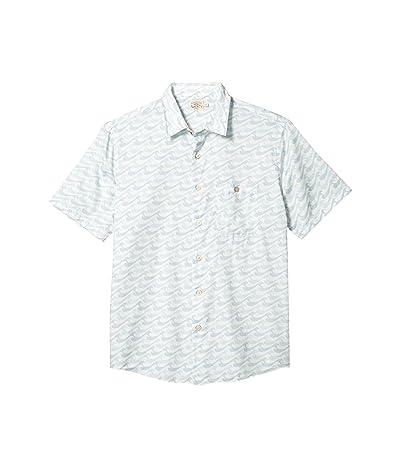 Faherty Short Sleeve Playa Shirt (Ivory Endless Peaks) Men