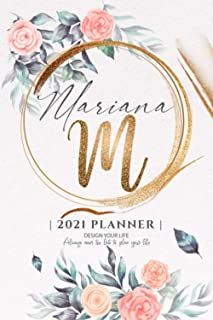 Mariana 2021 Planner: Personalized Name Pocket Size Organizer with Initial Monogram Letter. Perfect Gifts for Girls and Wo...