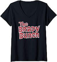 Womens The Brady Bunch Logo V-Neck T-Shirt