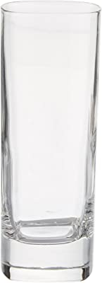 Luigi Bormioli Strauss High Ball Glass, 9-Ounce, Set of 6