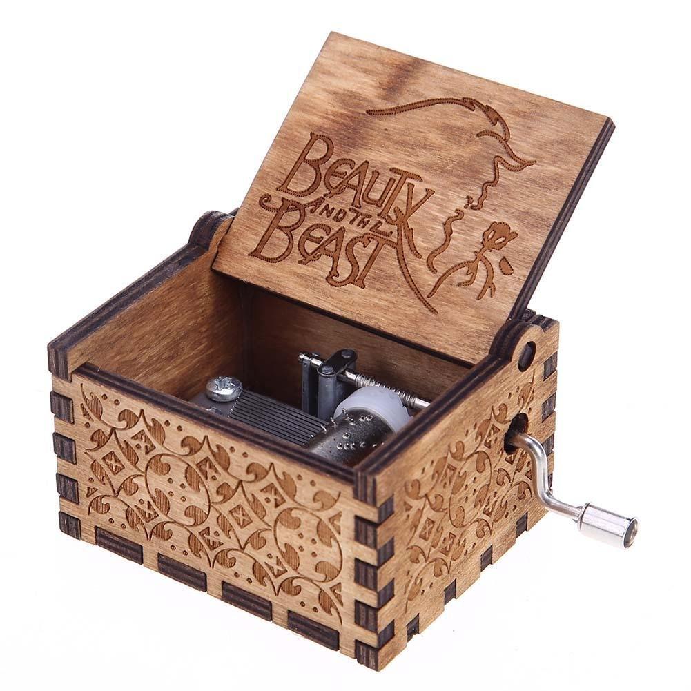 Seawang Caja de Musica de Madera Caja de Música Temática de Madera Caja de Música Retro un Gran Regalo para Cualquier Amante de la Música(Type A): Amazon.es: Hogar