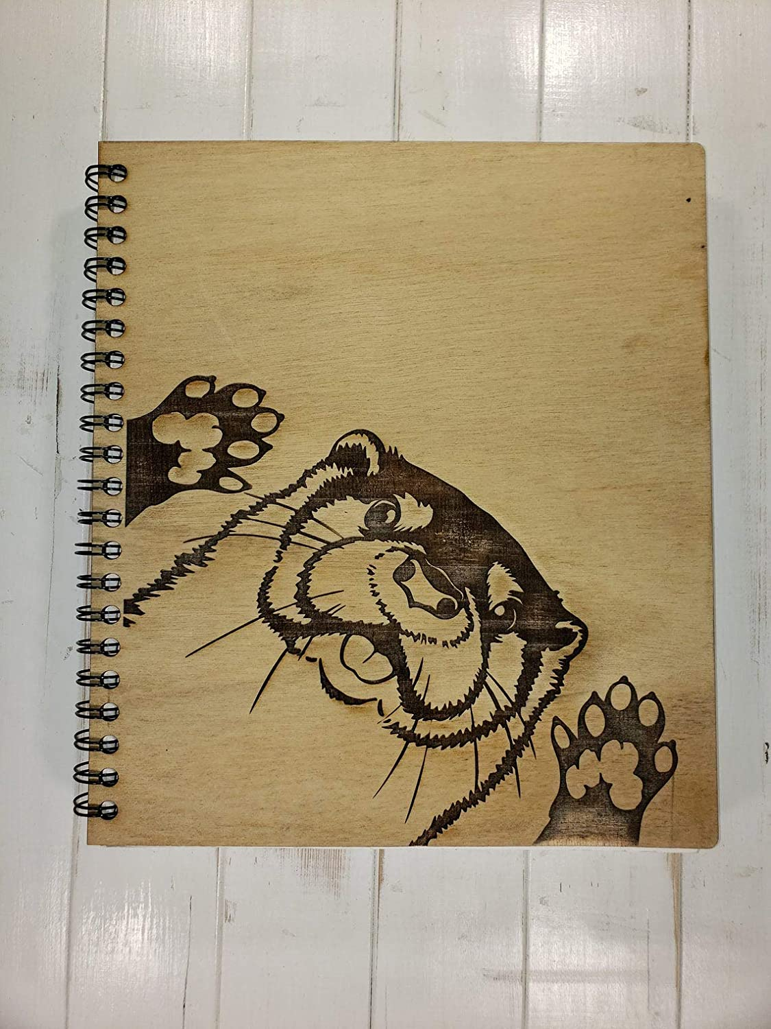 Peeking Otter Blank Sketchbook Spring new work - Left Oklahoma City Mall Be Handed Made Can