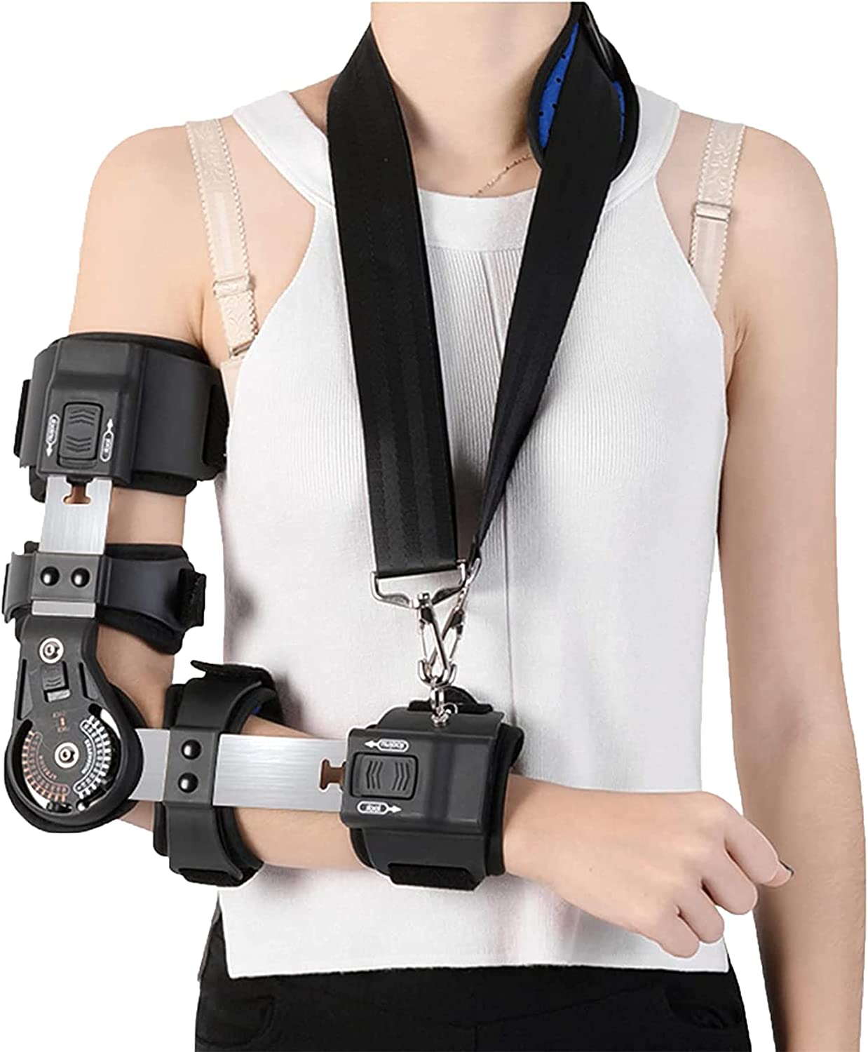 WILLQ Hinged ROM Elbow Latest item Brace Recovery Ligamen Surgery Sling with NEW