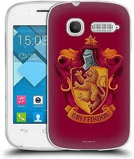 Official Harry Potter Gryffindor Crest Chamber of Secrets I Soft Gel Case Compatible for Alcatel Pop C1