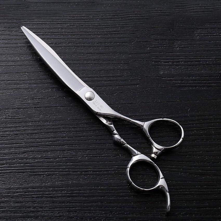 フィットネスパノラマラインナップ6インチファイントリムプロフェッショナルフラットシアハイエンドステンレスフラット理髪はさみ モデリングツール (色 : Silver)