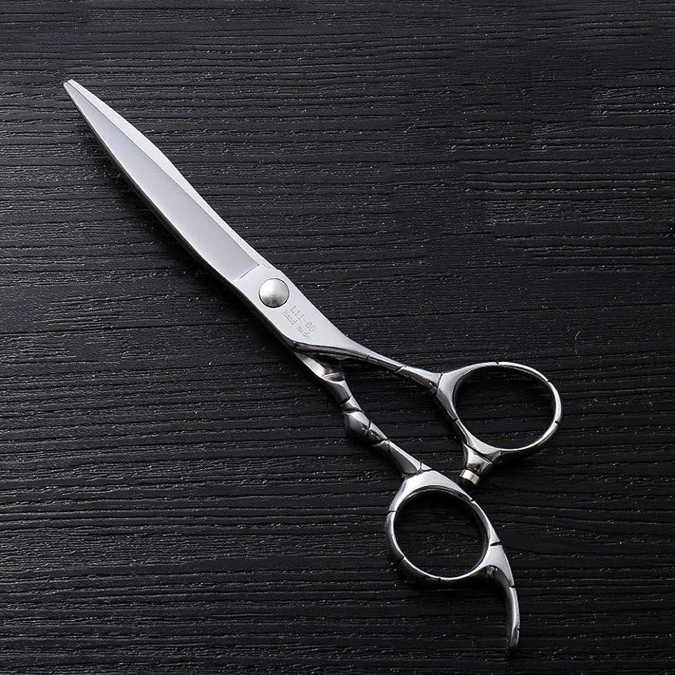 精巧な噴火分注する6インチファイントリムプロフェッショナルフラットシアハイエンドステンレスフラット理髪はさみ モデリングツール (色 : Silver)
