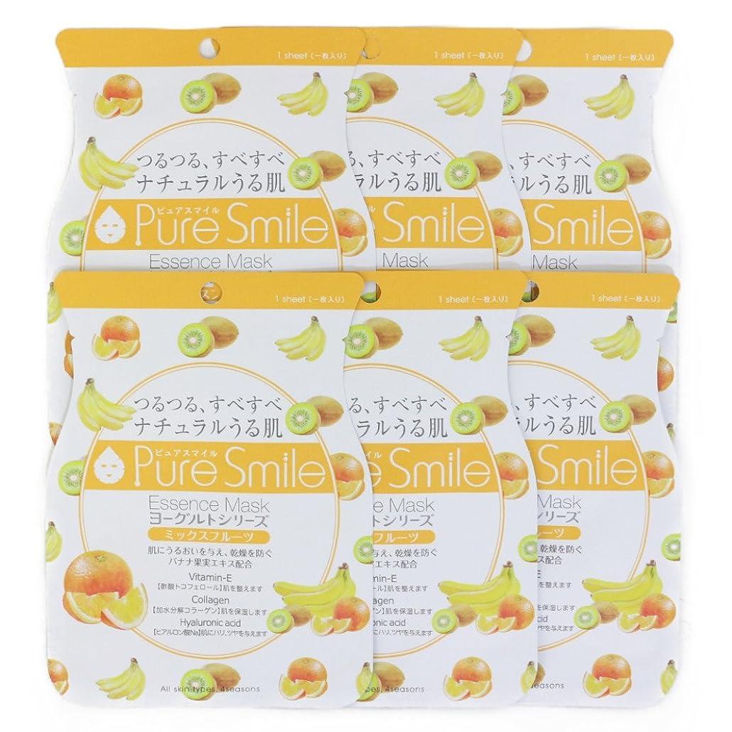 形コンピューターゲームをプレイする些細なPure Smile ピュアスマイル ヨーグルトエッセンスマスク ミックスフルーツ 6枚セット