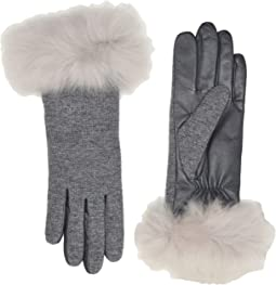 Italian Wool Blend Tech Gloves with Long Pile Sheepskin Trim