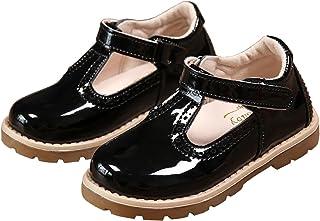 5175ba79a5d5b PPXID Enfant Automne Chaussure à Fond Plat Vernis bébé Chaussure de  Princesse pour Les Petites Filles