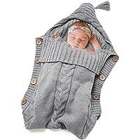 Truedays Newborn Baby Large Swaddle Blanket (Grey)