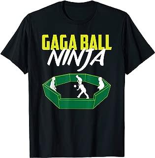 Funny Gaga Ball Ninja Pit Set Soccer Dodgeball Game Player T-Shirt