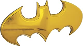 Fan Emblems Batman Car Badge, Yellow Chrome Batwing Logo 3D Automotive Sticker Decal, Flexes to Fully Adhere to Most Smooth Surfaces - Vehicles, Laptops, Windows, Almost Anything