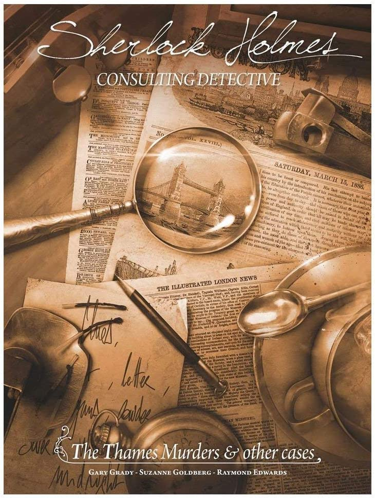 Amazon.com: Sherlock Holmes Consulting Detective - The Thames Murders &  Other Cases Board Game | Mystery Game for Teens and Adults | Ages 14+ | 1-8  Players | Average Playtime 90 Min. |