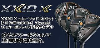 DUNLOP(ダンロップ) XXIO X eks ゼクシオ エックス ウッド4本セット (W#1+W#3+W#5+UT#4) Miyazaki AX-1 カーボンシャフト メンズゴルフクラブ 右利き用