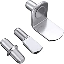 Shappy 60 Pieces Shelf Bracket Pegs Stainless Steel Shelf Pins Support, 3 Styles