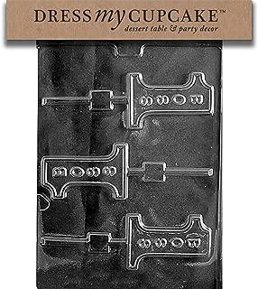 Dress My Cupcake DMCM189 Chocolate Candy Mold, No. 1 Boss Lollipop