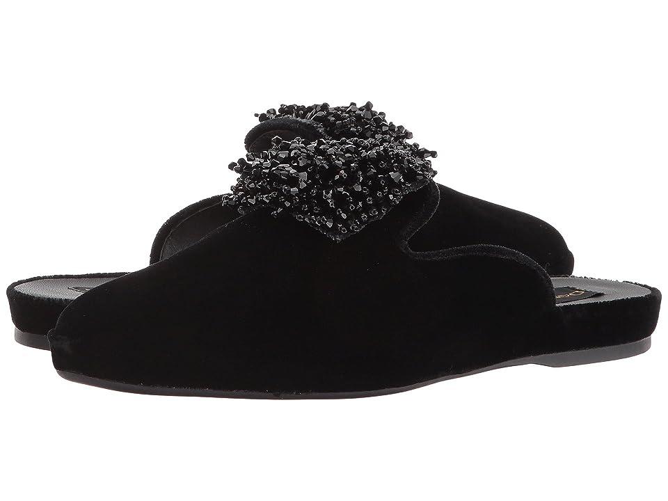 Donna Karan Cara Mule (Black Velvet) Women
