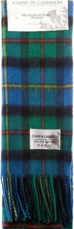 Luxury 100% Cashmere Scottish Clan Scarf MacLeod of Harris Ancient