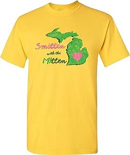 Smitten with The Mitten - Michigan Pride Great Lake State MI T Shirt - Large - Daisy