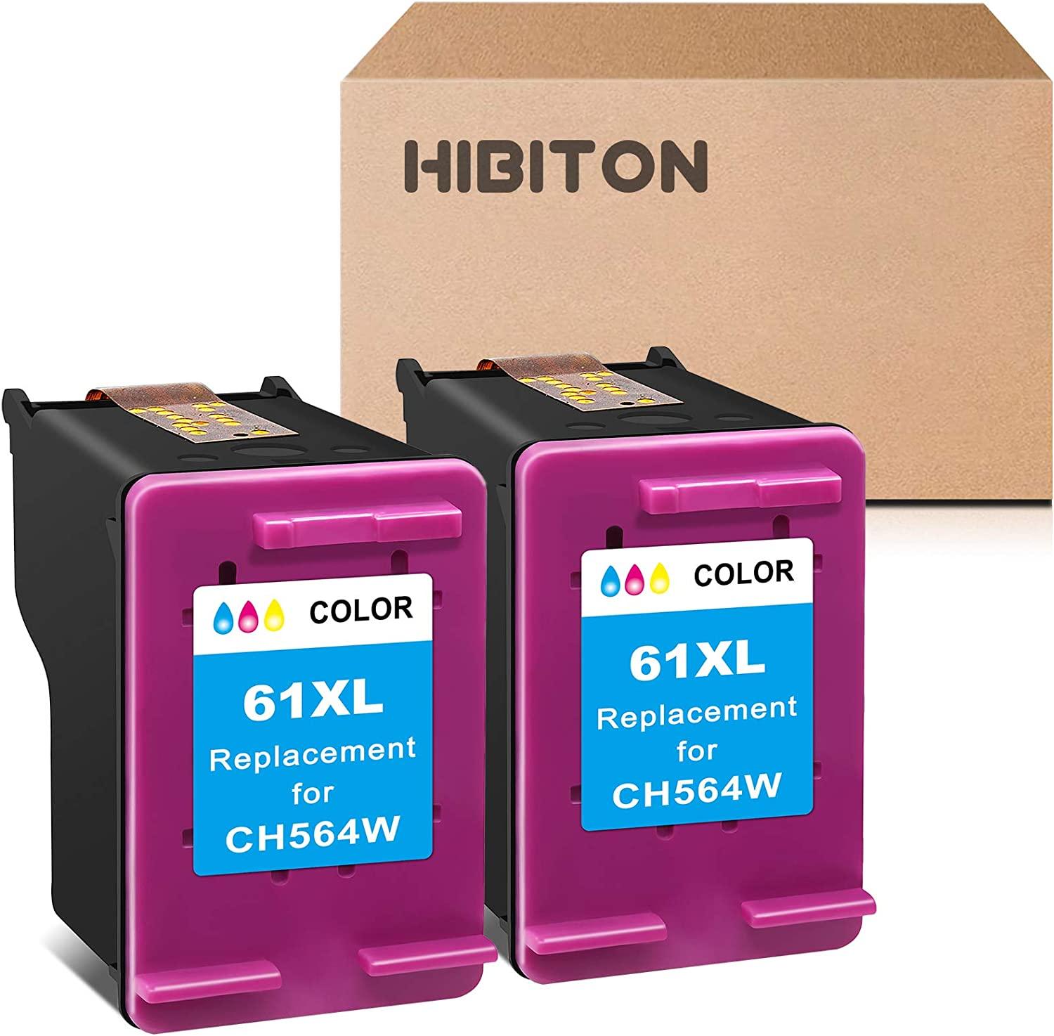 HibiTon Max 80% OFF Fashion Remanufactured Ink Cartridge Replacement HP 61XL for 61