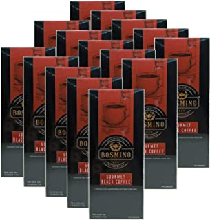 Bosmino Gourmet 15 Boxes Black Coffee Cafe Nior Water Soluable Ganoderma Lucidum (1 Box: 30 Sachets)