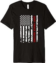 Dirt Track Racing USA Flag T Shirt, Mud Racing Gift Tees
