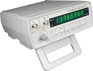 Gain Express VC3165 Radio Frequency Counter 0.01Hz~2.4GHz w/BNC Test Leads, High Resolution Professional RF Signal Meter Tester, 8 Digits LED Display