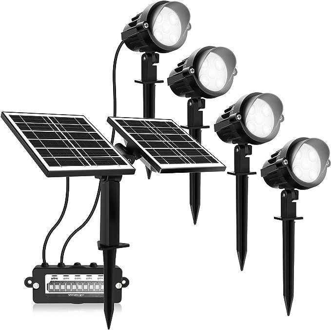 3001 opinioni per MEIKEE Faretti LED per Esterni 4 Pezzi con Pannelli solari- Luci solari da