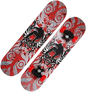 Mini Complete Skateboard-Beginner Skateboard 23.6 Inch Anime Parkour Boy Pattern Children Skateboard