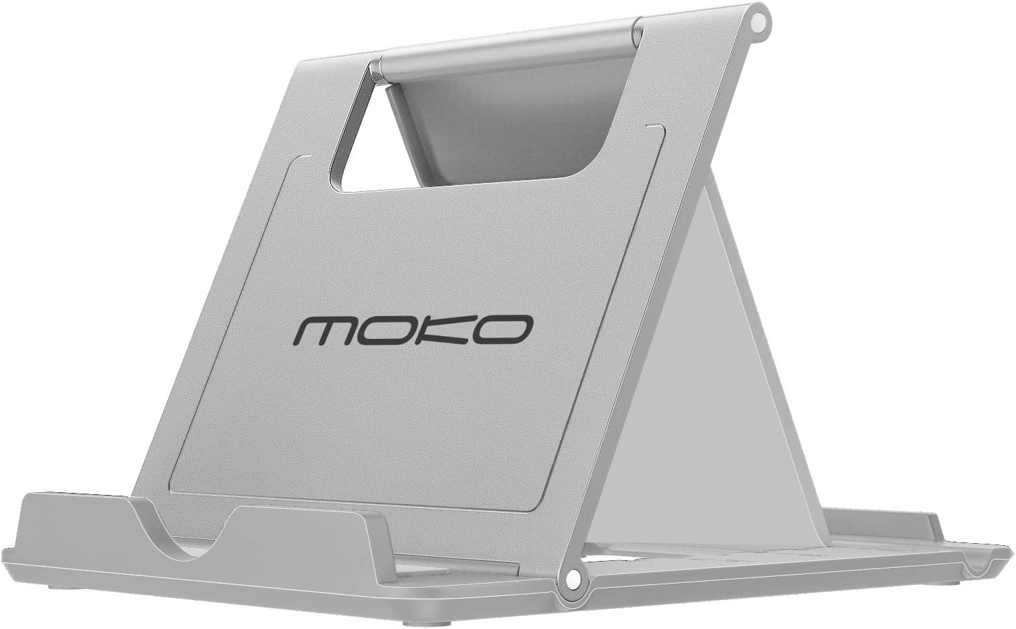 MoKo Phone/Tablet Stand, Foldable Tablet Holder Fit with iPhone 13 Pro Max/13 Pro/13, iPhone 12/12 pro Max/11/Xs Max, iPad Pro 11, iPad Air 4/Mini 6 2021, iPad 9th 10.2