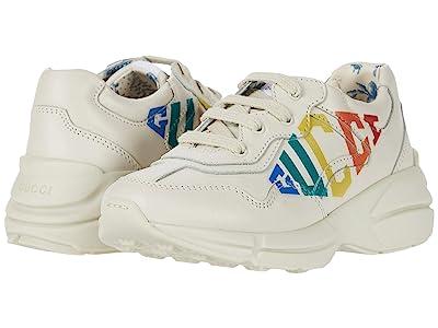 Gucci Kids Rhyton Sneaker (Toddler) (Mystic White) Girl