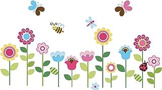 Garden Flowers Baby Nursery Peel & Stick Wall Sticker Decals