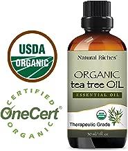 Natural Riches Organic Tea Tree Oil 30 ml - Pure Undiluted Melaleuca Alternifolia Oil – Natural Therapeutic Grade Tea Tree Essential Oil for Acne, Hair, Dandruff, Skin Tags, Scalp and Toenail Fungus