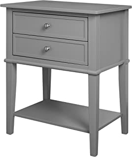 Ameriwood Home Franklin Accent Table with 2 Drawers, Gray