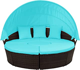 DERCASS Round Sectional Sofa Set,72.4